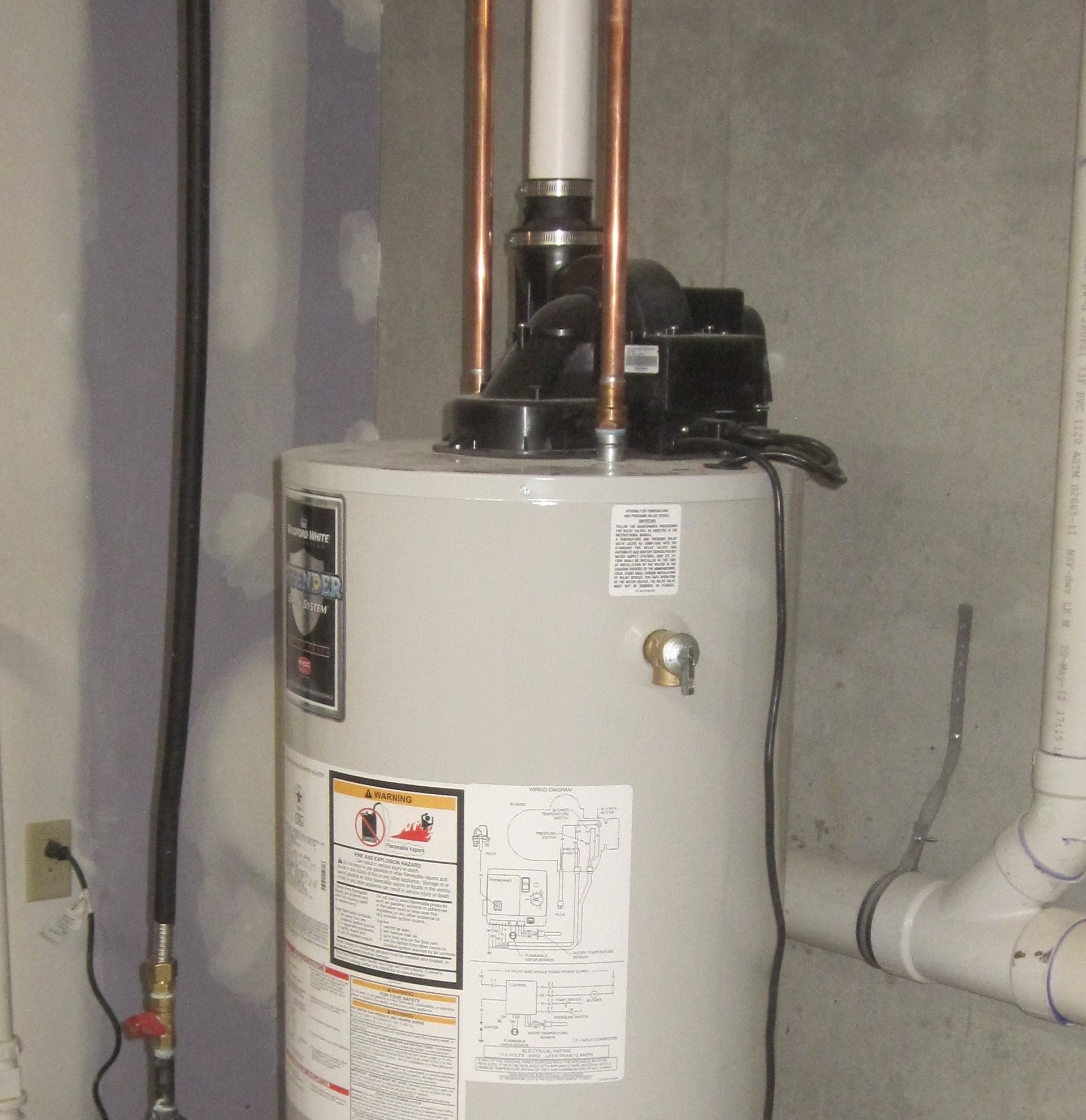How to vent a hot water heater - Power Vented Water Heater